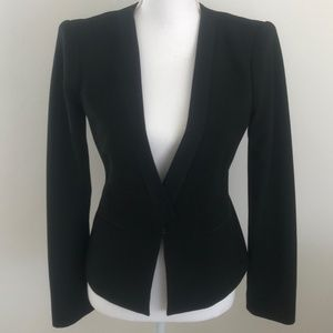 BCBGMaxAzria Black Super Chic Waist Length Blazer